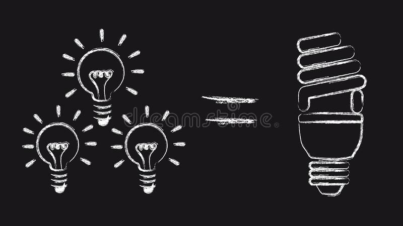 energi - sparande royaltyfri illustrationer