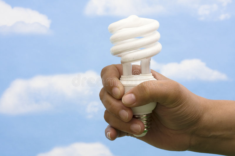 energi - sparande royaltyfria bilder