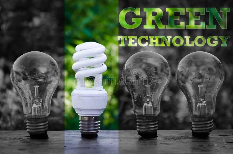 Energi - sparande innovation för ljus kula arkivbild