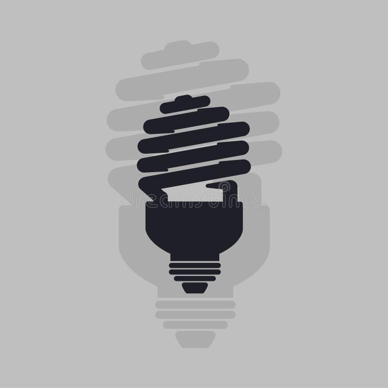 Energi - sparande symbol för ljus kula Lampsymbolsvektor royaltyfri foto
