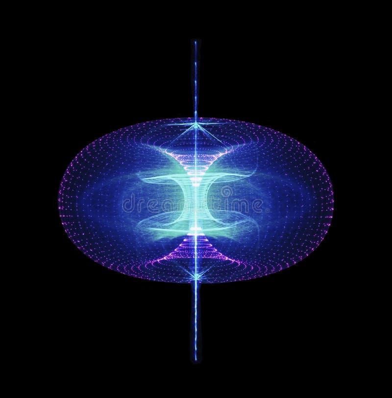A energia alta sustentável da partícula corre através de um toro magnético ilustração do vetor