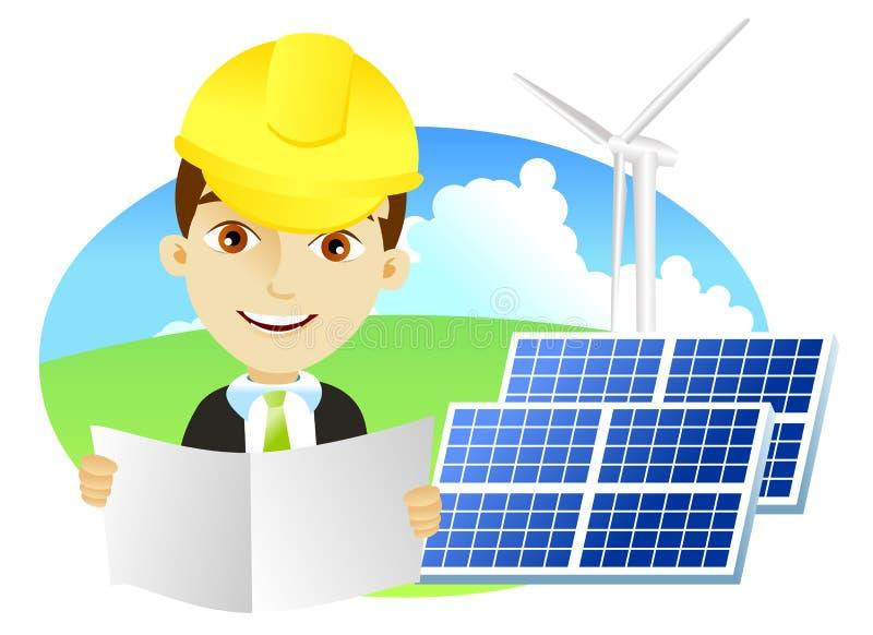Energia alternativa ilustração do vetor