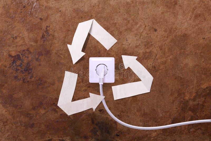 Energia alternativa, conceito ilustração royalty free