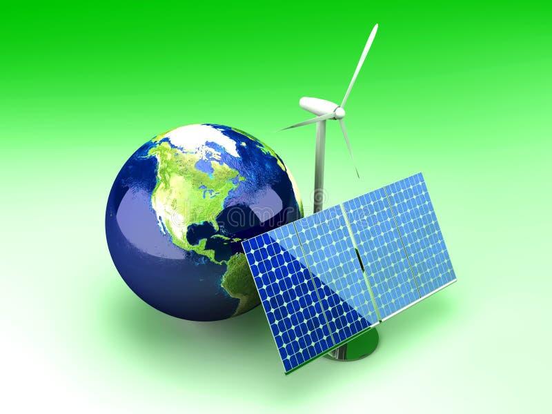 Energia alternativa - EUA ilustração do vetor