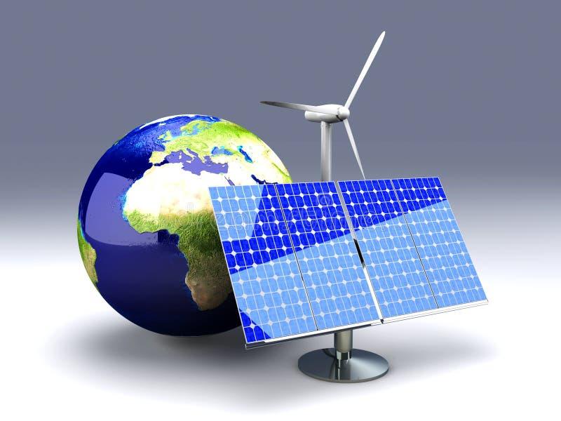 Energia alternativa - Europa ilustração royalty free