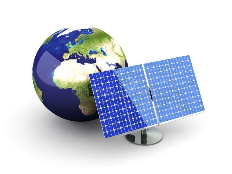 Energia alternativa - Europa ilustração do vetor