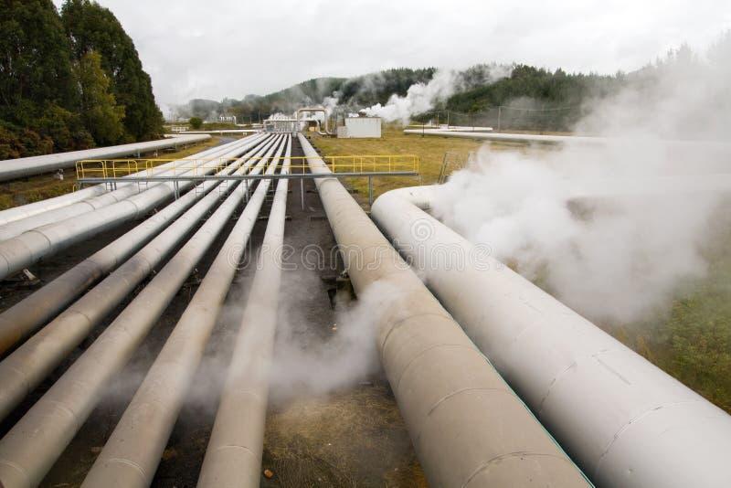 Energia alternativa geotermica della centrale elettrica immagini stock libere da diritti