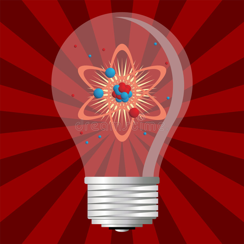 Energia atômica ilustração do vetor