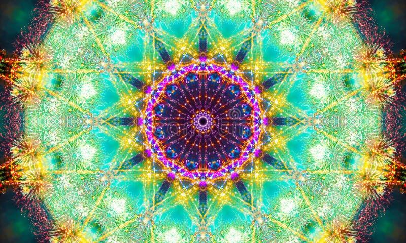 Energia brilhante como a arte da mandala ilustração do vetor