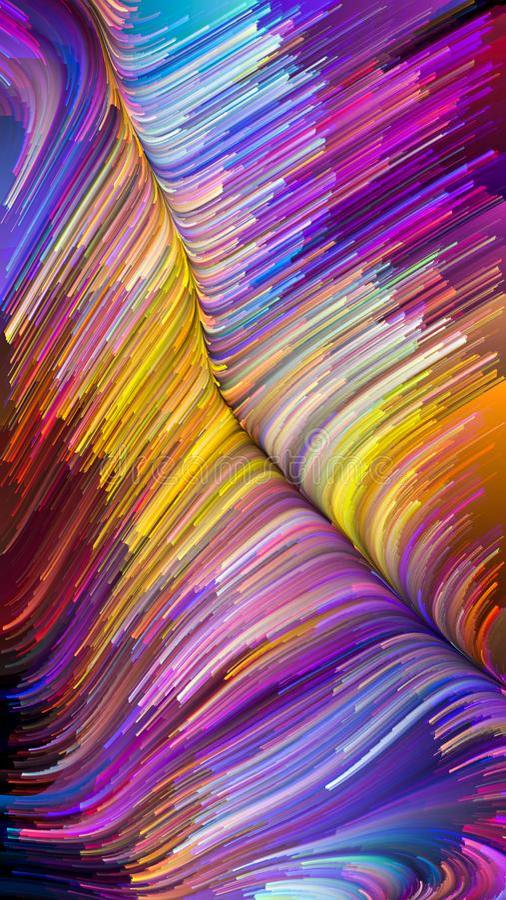 Energia Ciekły kolor obrazy royalty free