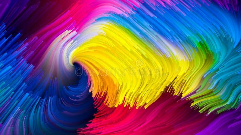 Energia Ciekły kolor ilustracja wektor