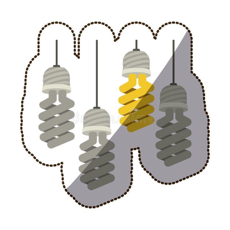 Energia clara de bulbo ilustração royalty free