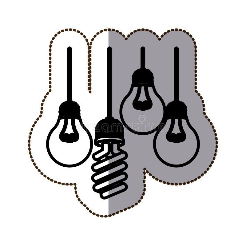 Energia clara de bulbo ilustração do vetor