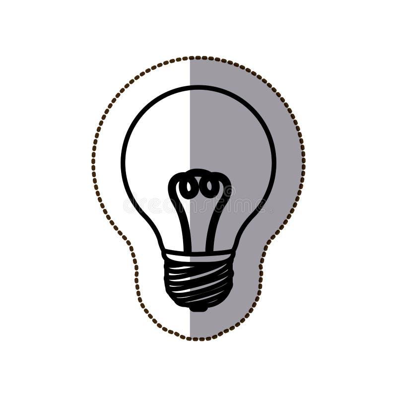 Energia clara de bulbo ilustração stock