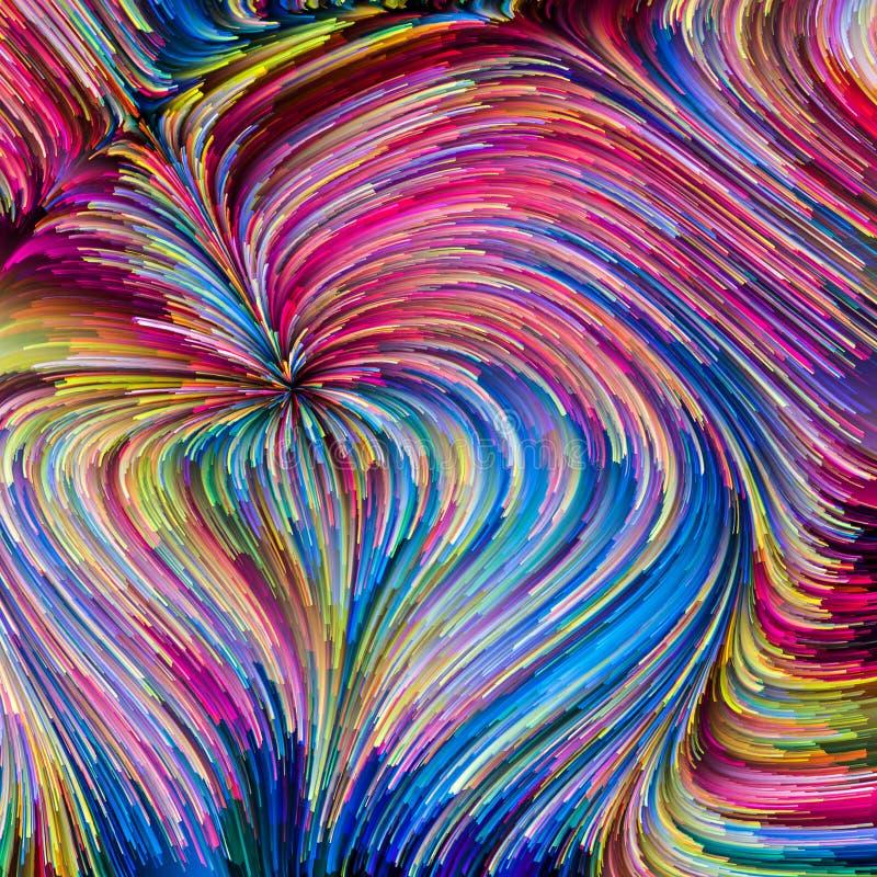 Energia colorida da pintura ilustração do vetor