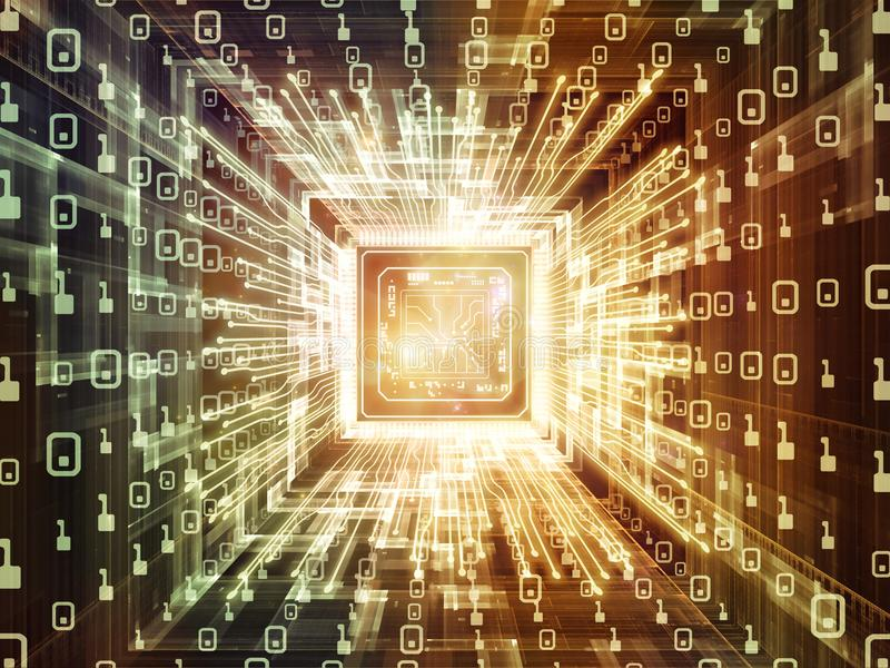 Energia Cyfrowego procesor ilustracji
