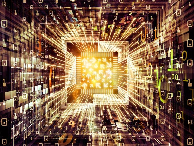 Energia Cyfrowego procesor ilustracja wektor