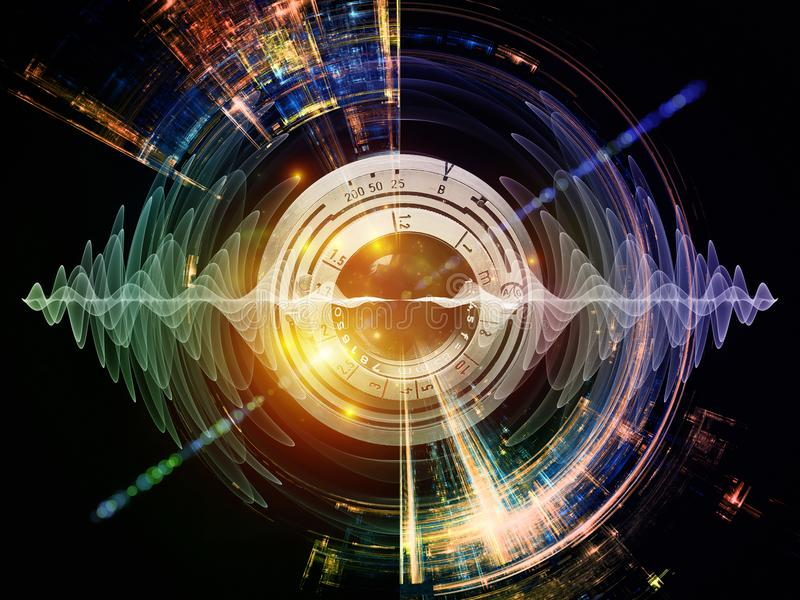 Energia Cyfrowego wzrok ilustracja wektor