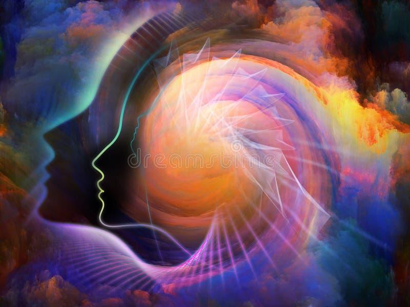 Energia da alma ilustração royalty free
