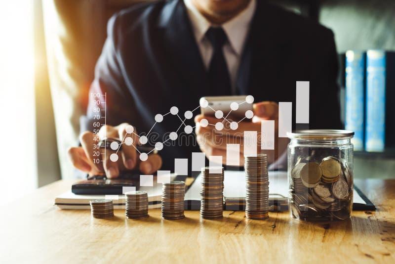Energia de salvamento da ideia e mercado explicando de Digitas do conceito da finan?a imagens de stock royalty free