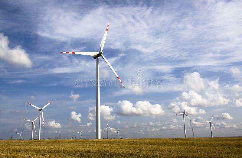 Energia de vento fotografia de stock