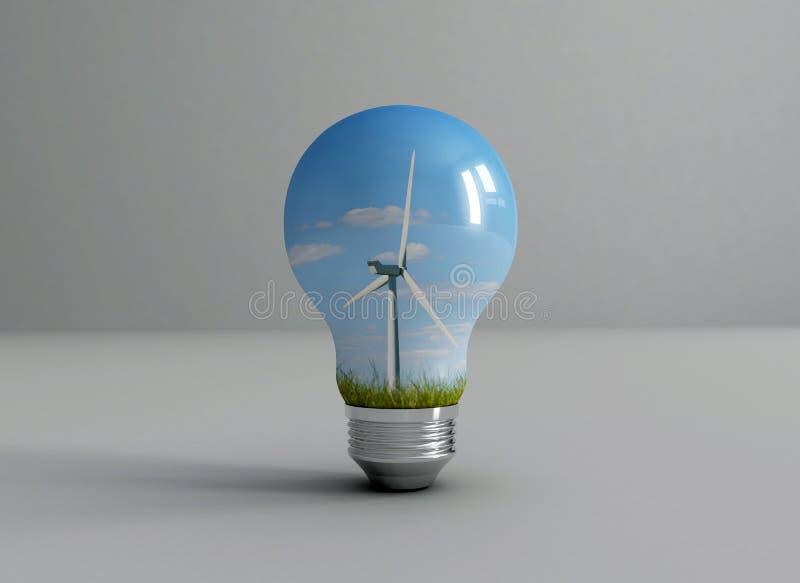 Energia de vento ilustração royalty free