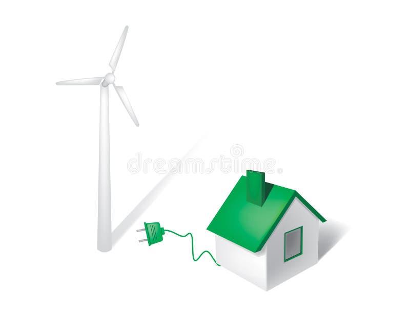 Energia de vento ilustração stock