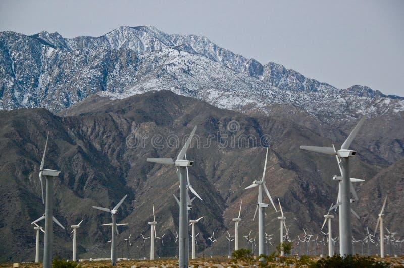 Energia de vento, Palm Spring, Califórnia fotos de stock royalty free