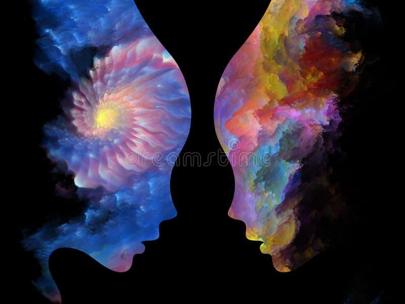 Energia dei colori interni illustrazione di stock