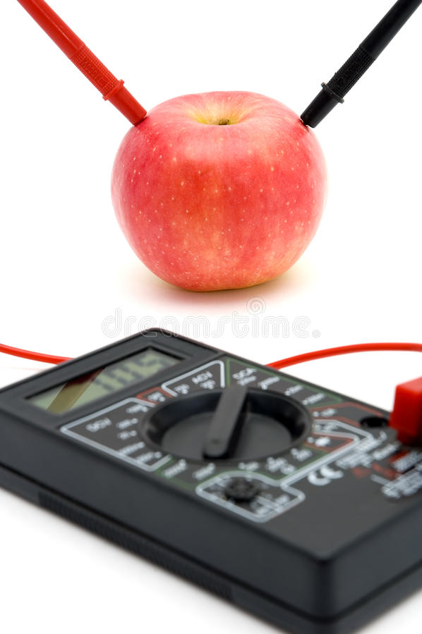 Energia della mela rossa fotografie stock libere da diritti
