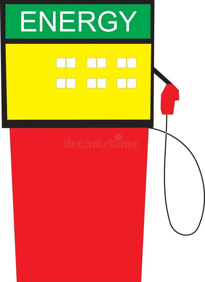 Energia della stazione di servizio illustrazione di stock