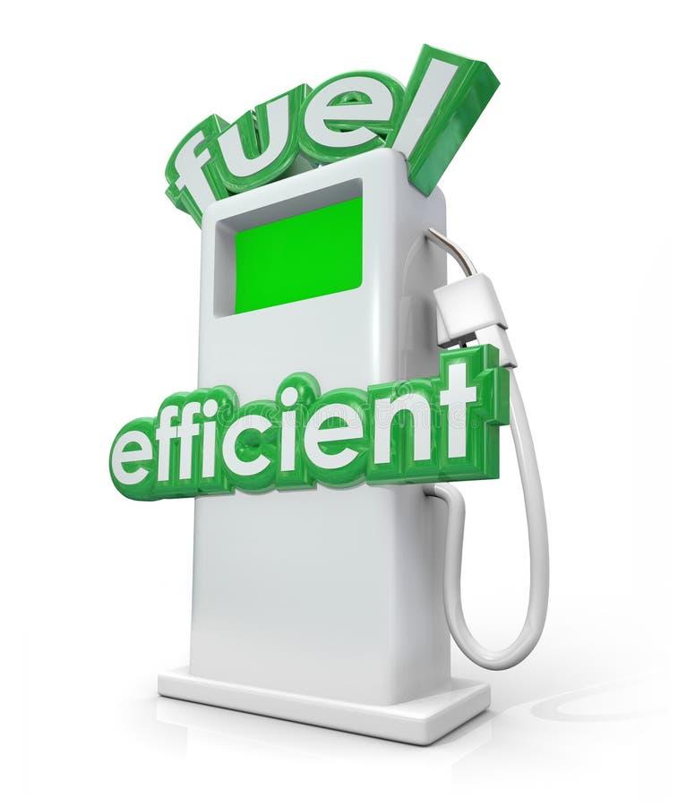Energia diesel di potere verde della pompa della benzina economica in consumo di carburante illustrazione di stock