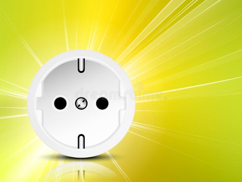 Energia do poder - fundo da eletricidade ilustração do vetor