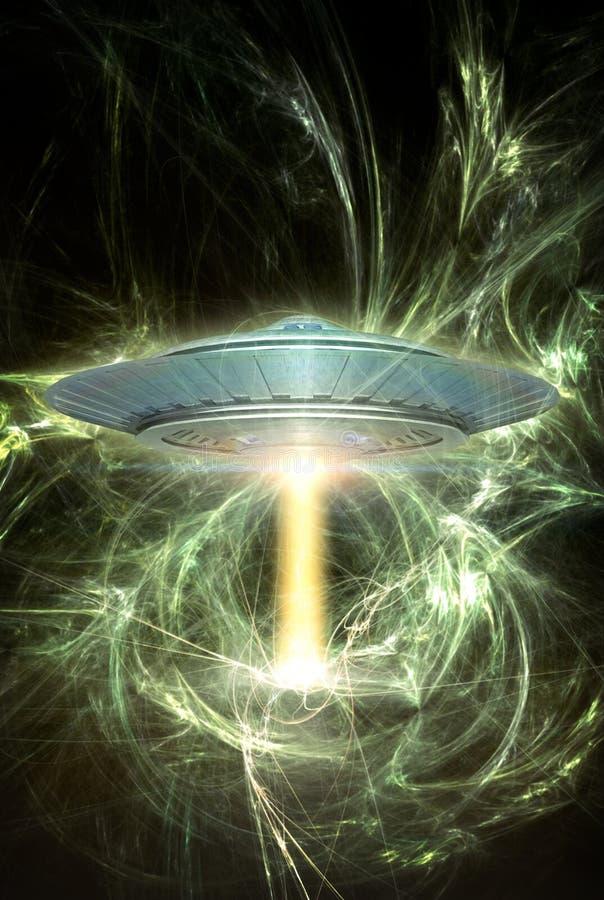 Energia do UFO ilustração royalty free