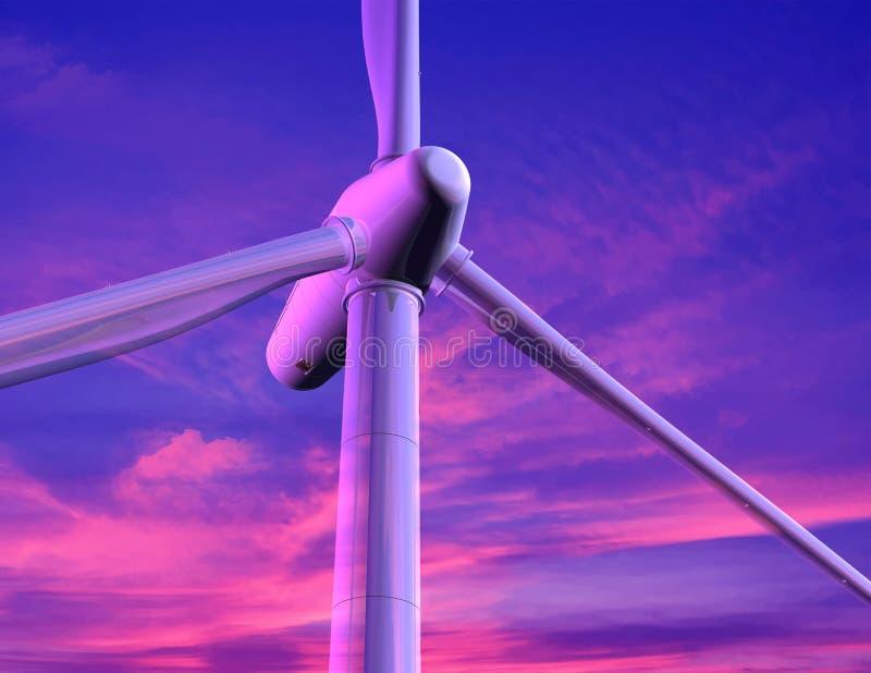 Energia do vento fotografia de stock royalty free
