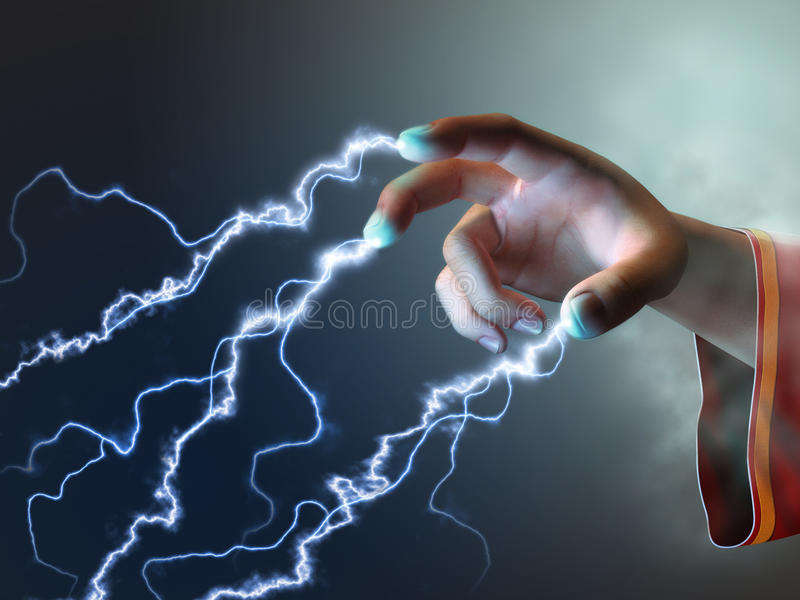 Energia dos dedos ilustração royalty free