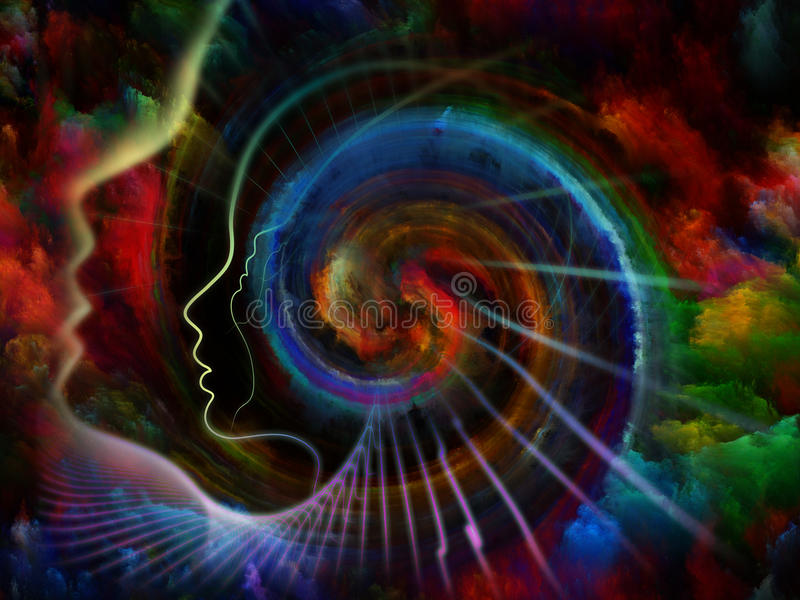 Energia dusza ilustracji