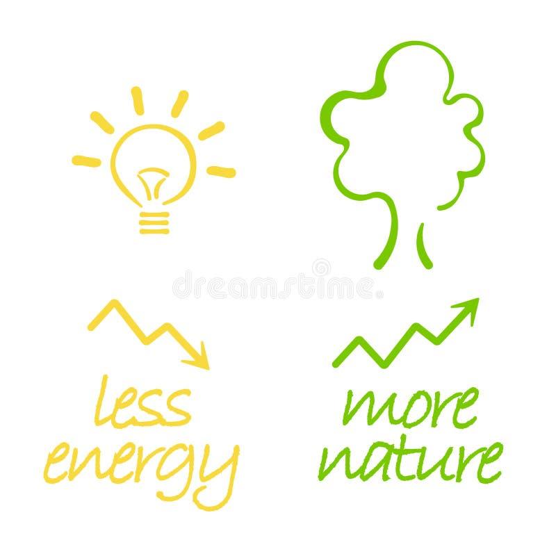 Energia e natureza ilustração royalty free