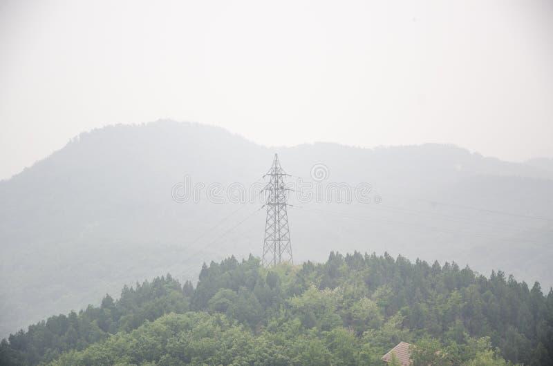 Energia e poluição do ar imagens de stock