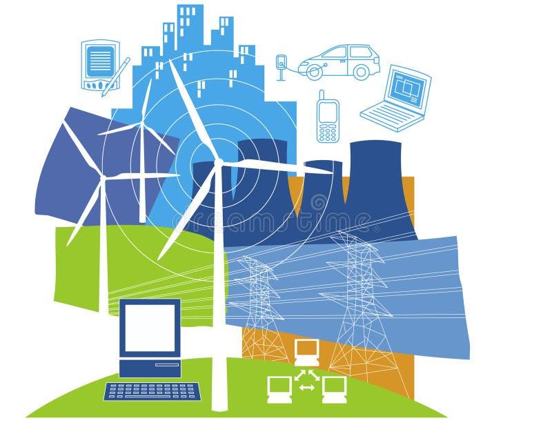 Energia eléctrica ilustração royalty free