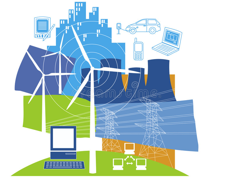 energia elektryczna royalty ilustracja