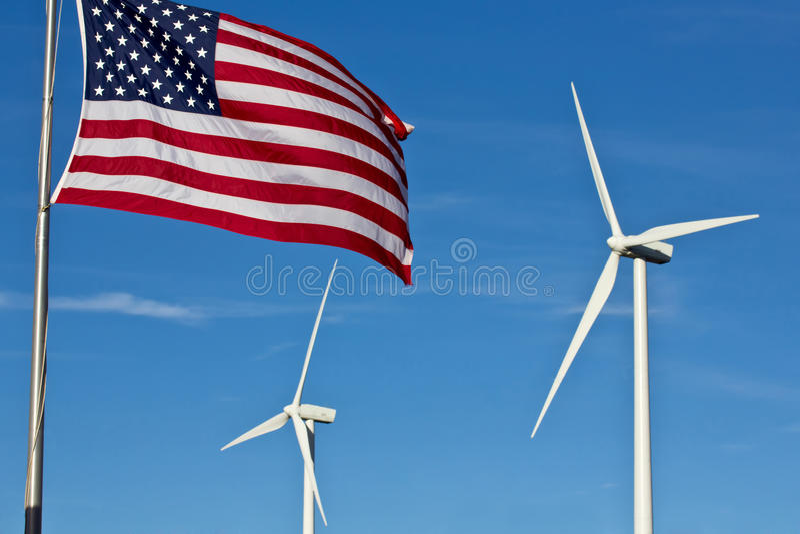 Energia eolica americana immagini stock