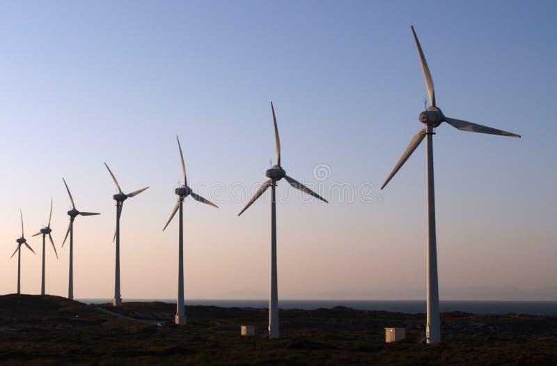 Energia eolico fotografia stock