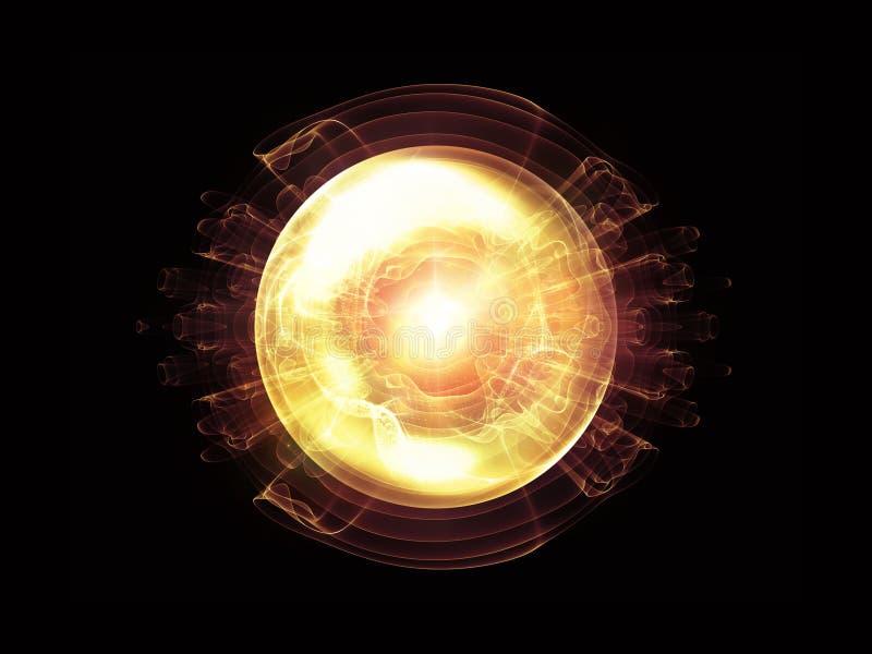Energia Falowa cząsteczka ilustracja wektor