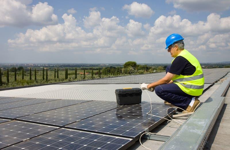 Energia fotovoltaica immagine stock