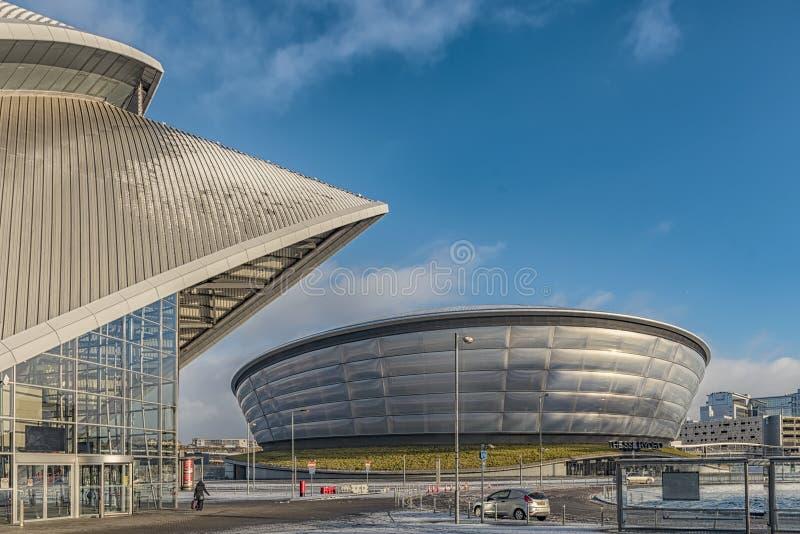 Energia hidráulica de Glasgow Scotland SSE imagens de stock royalty free