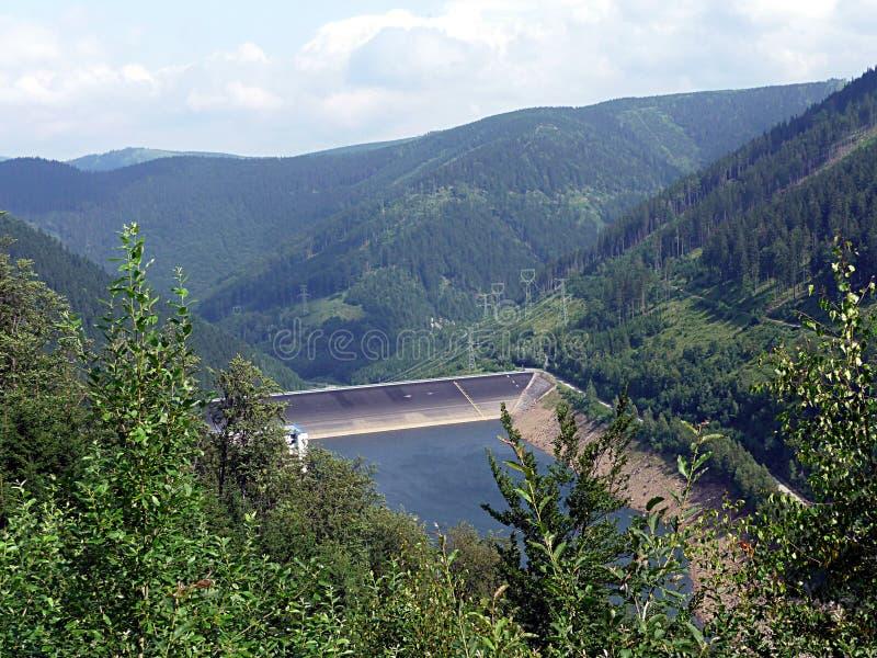 Energia idroelettrica, mountain Jeseniky, Repubblica ceca, Europa fotografia stock
