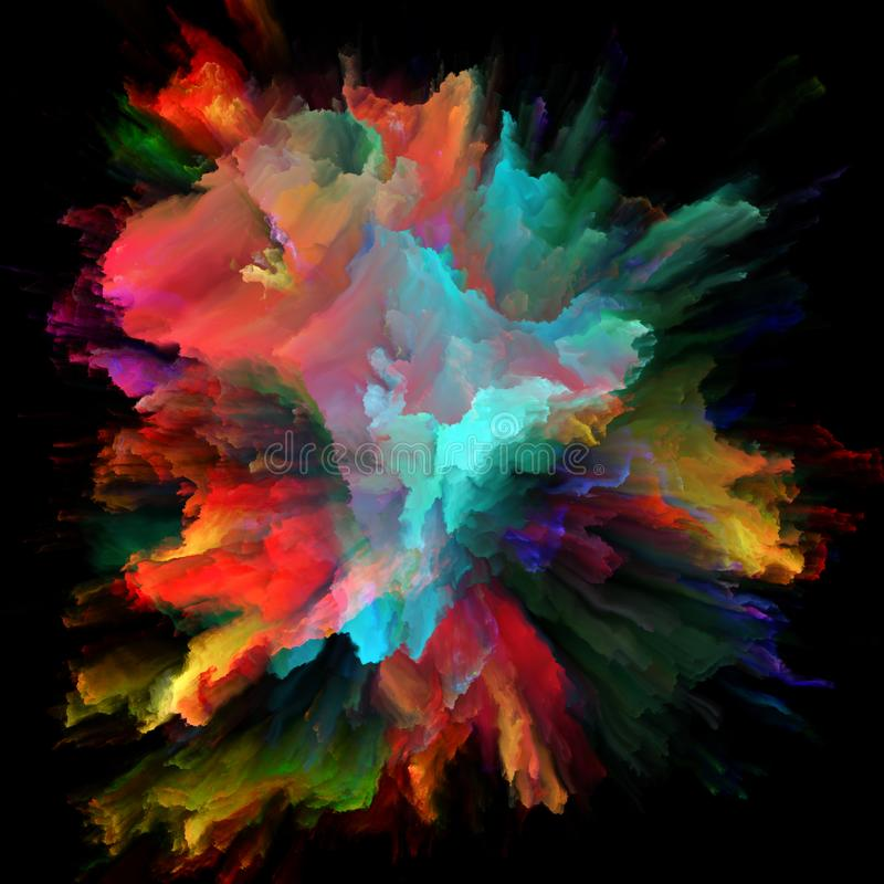 Energia koloru plu?ni?cia wybuch ilustracji