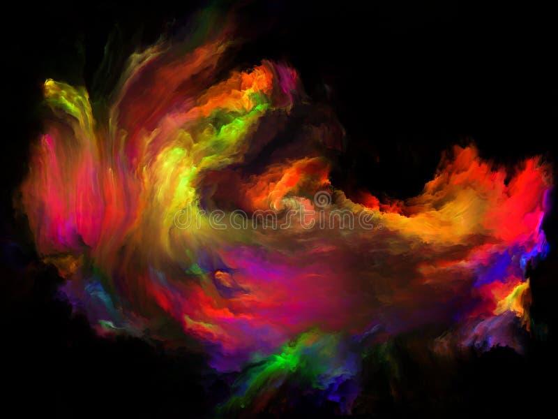Energia koloru ruch royalty ilustracja