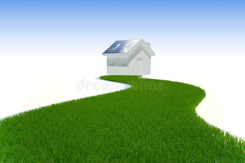 Energia limpa - painel solar ilustração stock